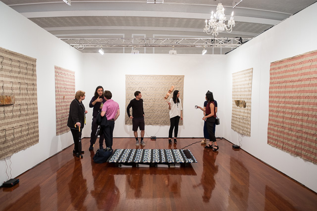 Installation view of the Overduin & Co. booth at the 2014 Nada art fair (photo MIchael Groth/Hyperallergic)