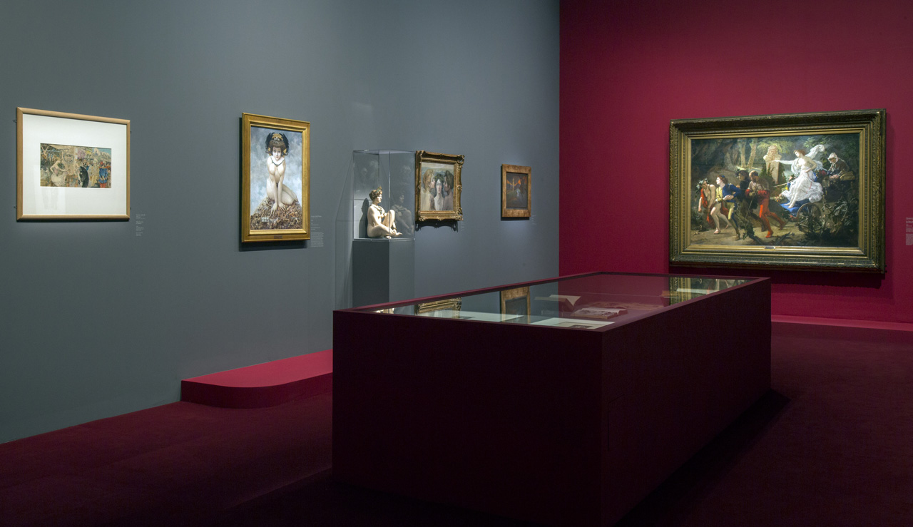 Installation view of 'Splendour and Misery. Pictures of Prostitution, 1850–1910' at the Musée d'Orsay (photo by Sophie Boegly, © Musée d'Orsay)