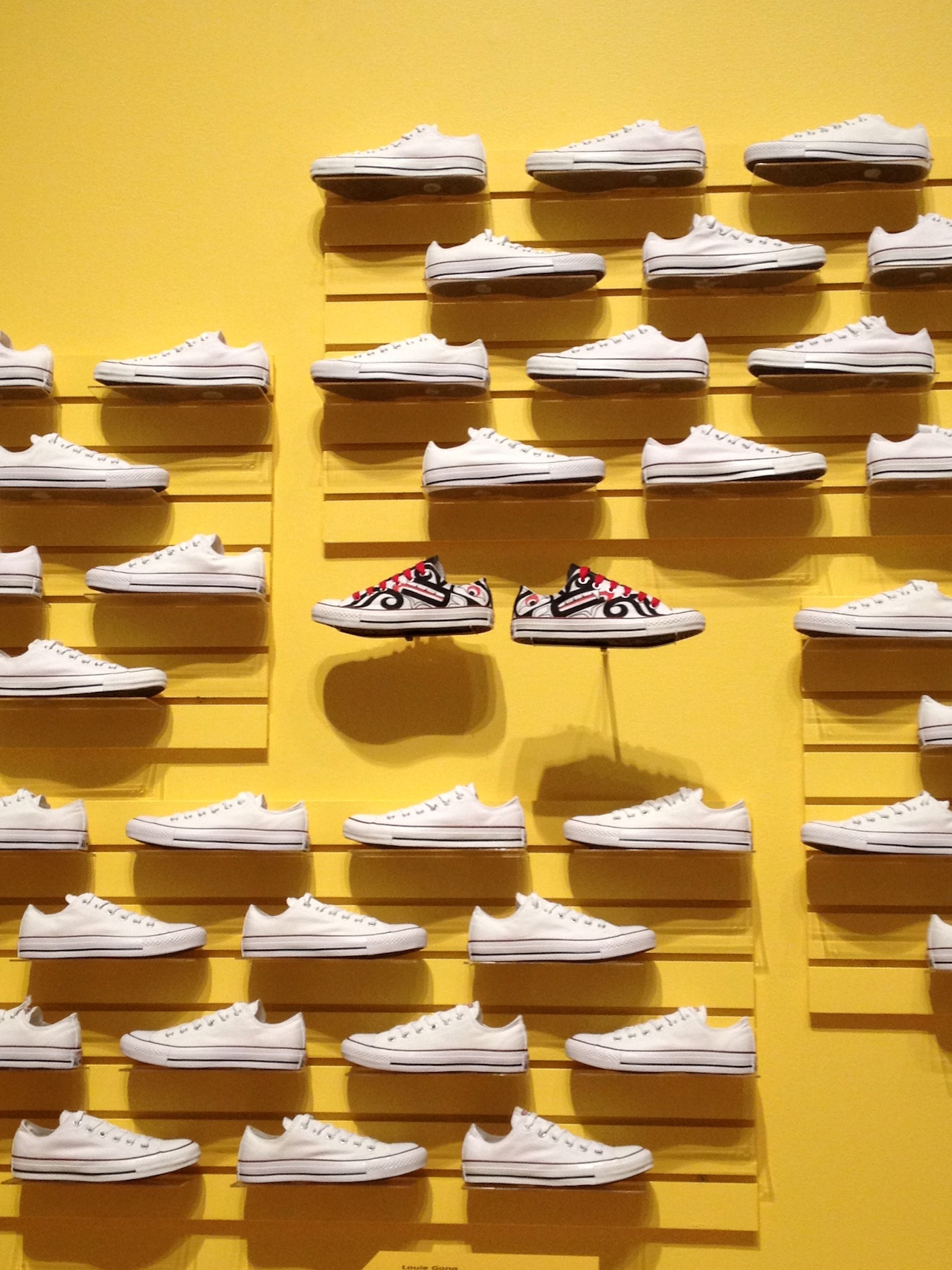 Wolf Chucks by Louie Wong in a striking commercial style display