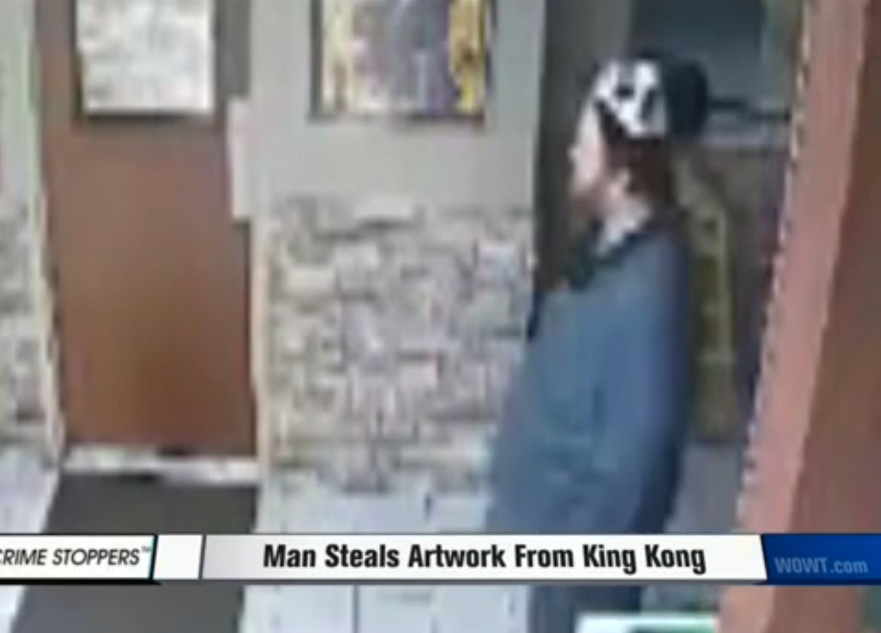 An art thief with a panda hat (screenshot by the author via TK)
