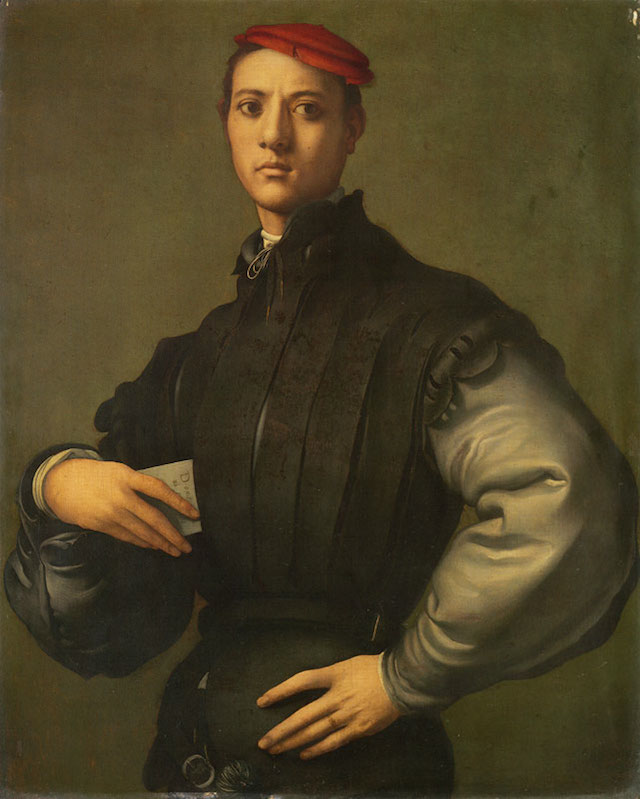 """Jacopo Pontormo, """"Portrait of a Young Man in a Red Cap"""" (courtesy The Department of Culture, Media, and Sport, via <a href=""""https://flic.kr/p/CpU6vf"""">Flickr</a>)"""