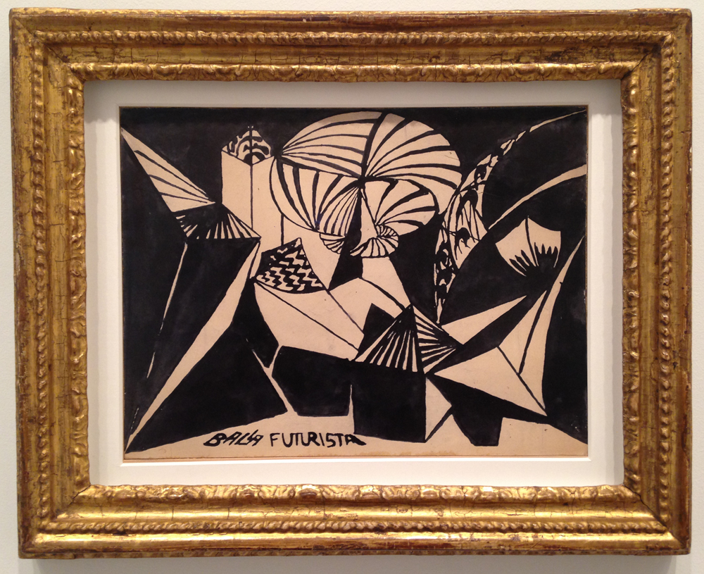 "Giacomo Balla, ""Fuochi d'Artificio (Feux d'Artifice)"" (1916/1917), ink on cardboard, 10 x 14 inches."