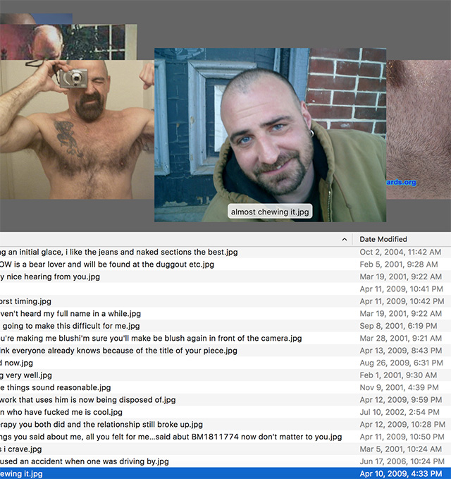 """A screenshot of Christopher Clary's """"Sorry to dump on you like this.zip"""" project (screenshot Hrag Vartanian/Hyperallergic)"""