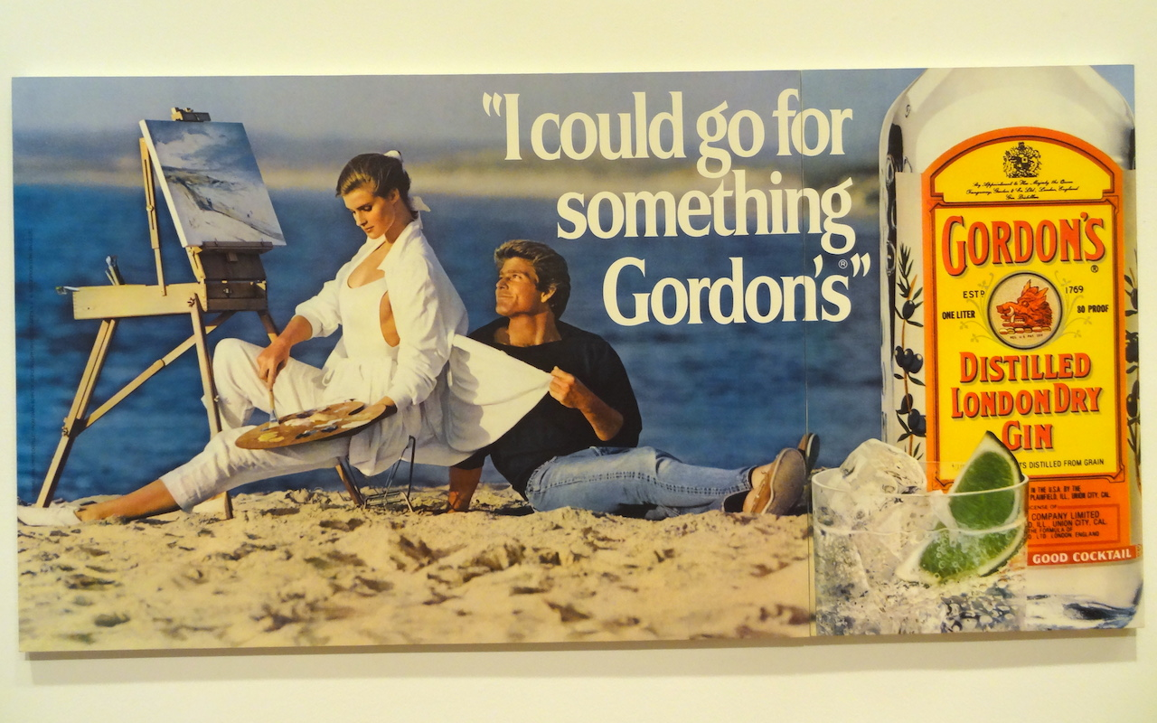"""Jeff Koons, """"I Could Go for Something Gordon's"""" (1986) (photo by the author for Hyperallergic)"""