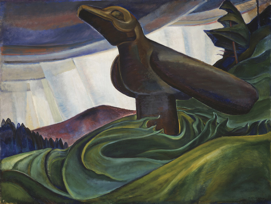 """Emily Carr, """"Big Raven"""" (1931), oil on canvas (via Vancouver Art Gallery)"""