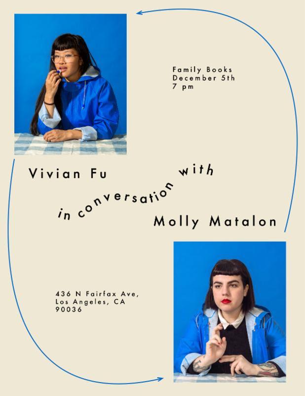 Vivian Fu in conversation with Molly Matalon (via facebook)