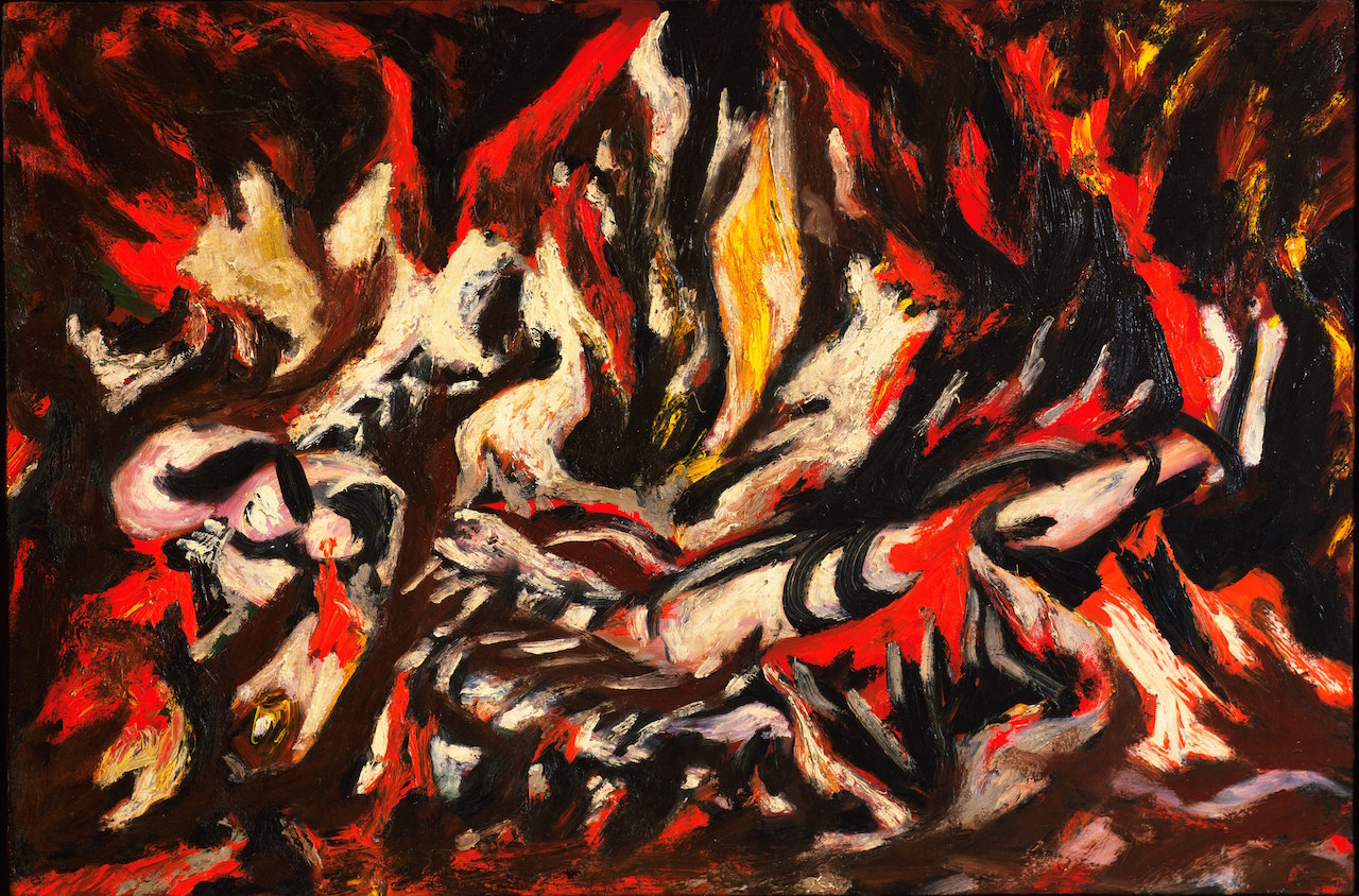 "Jackson Pollock, ""The Flame"" (1934-38) (image courtesy of MoMA, © 2015 Pollock-Krasner Foundation / Artists Rights Society, New York)"