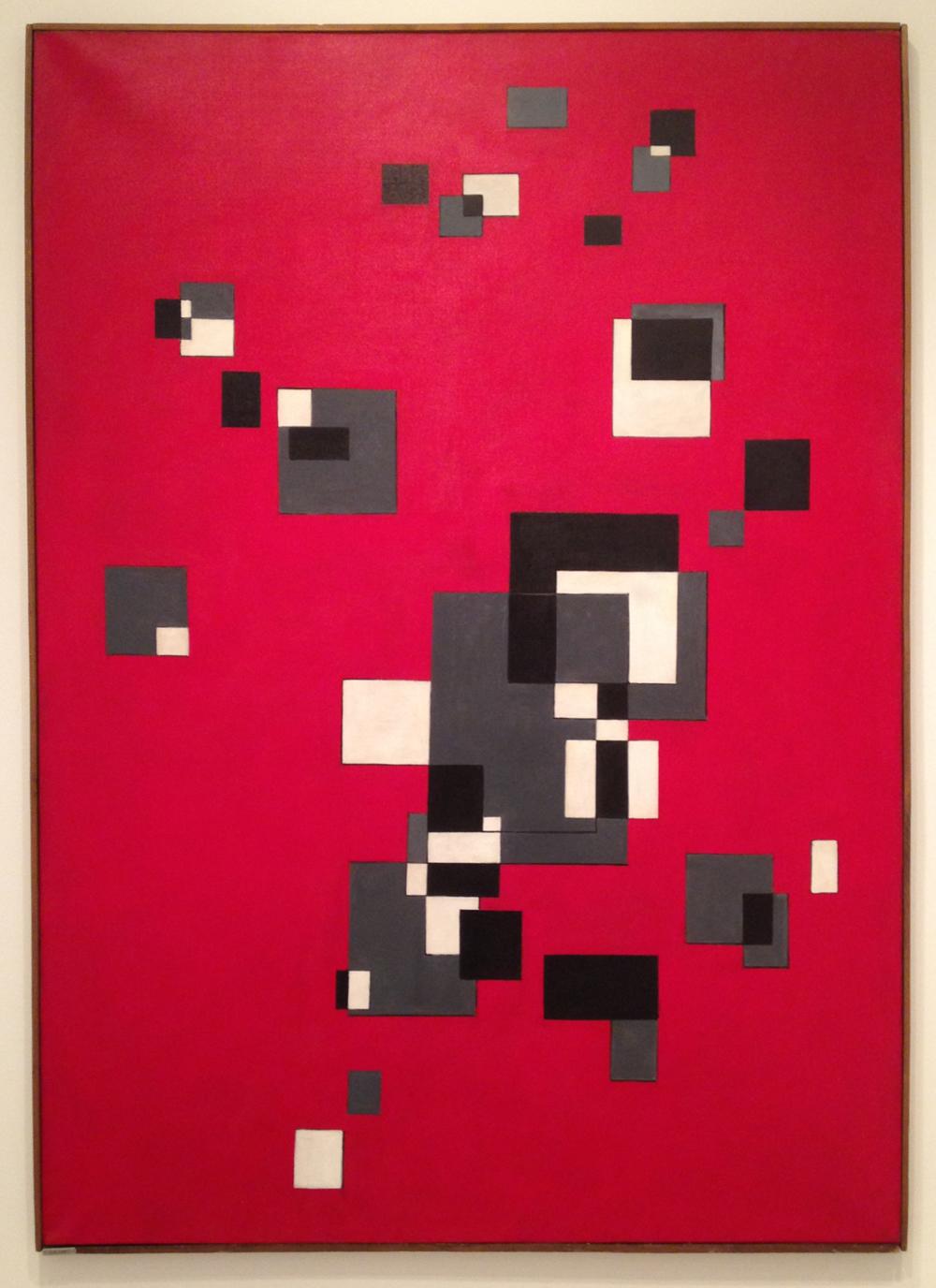"""Albino Galvano, """"Se e no (Yes and No)"""" (1952), oil on canvas, 71 x 51 inches."""
