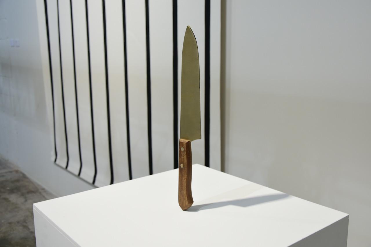 """Eduardo Basulado, """"Split Knife"""" (2012) in 'Everything you are I am not' at Mana Wynwood"""