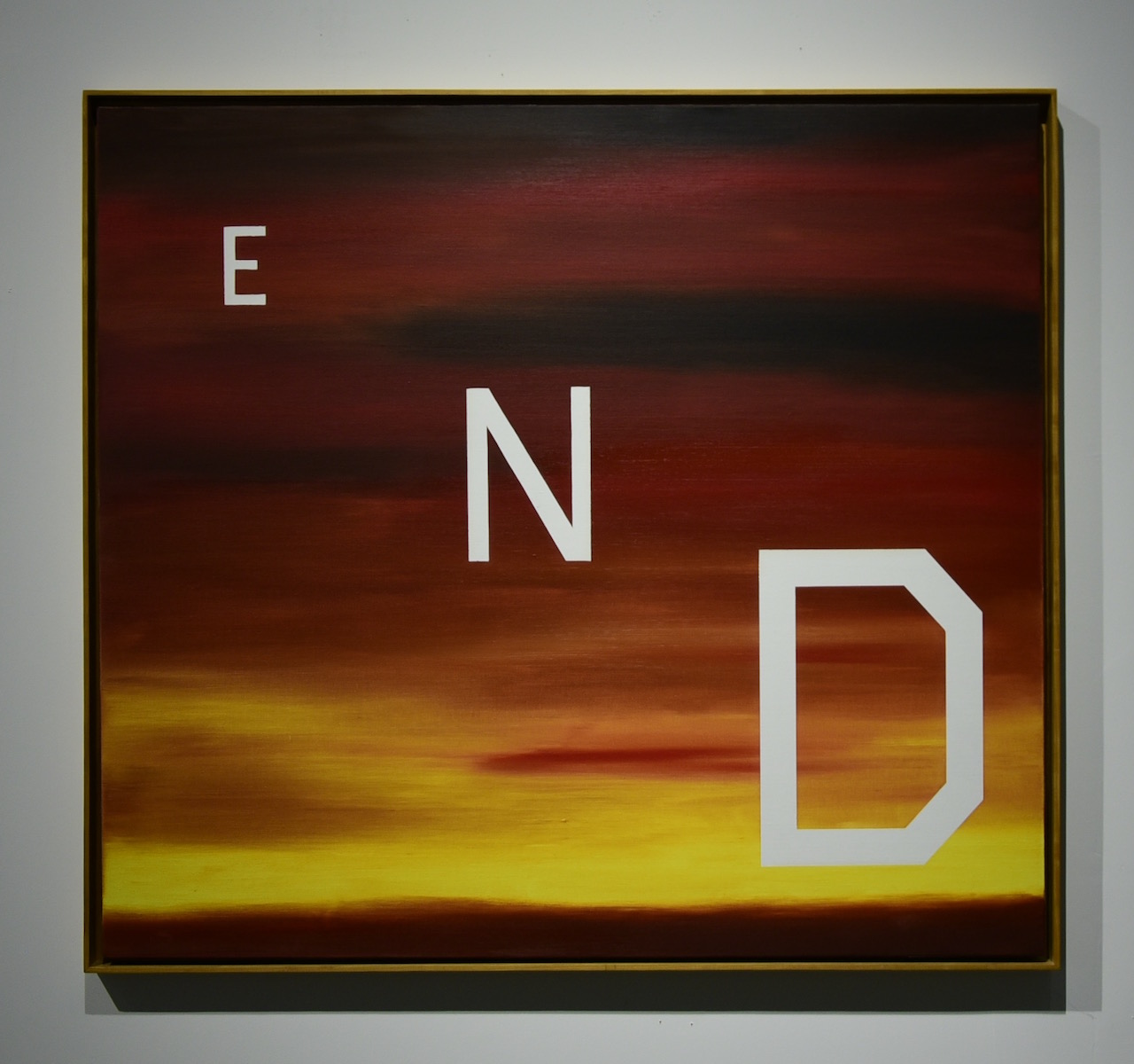 """Ed Ruscha, """"End"""" (1983), from 'Made in California' at Mana Wynwood"""