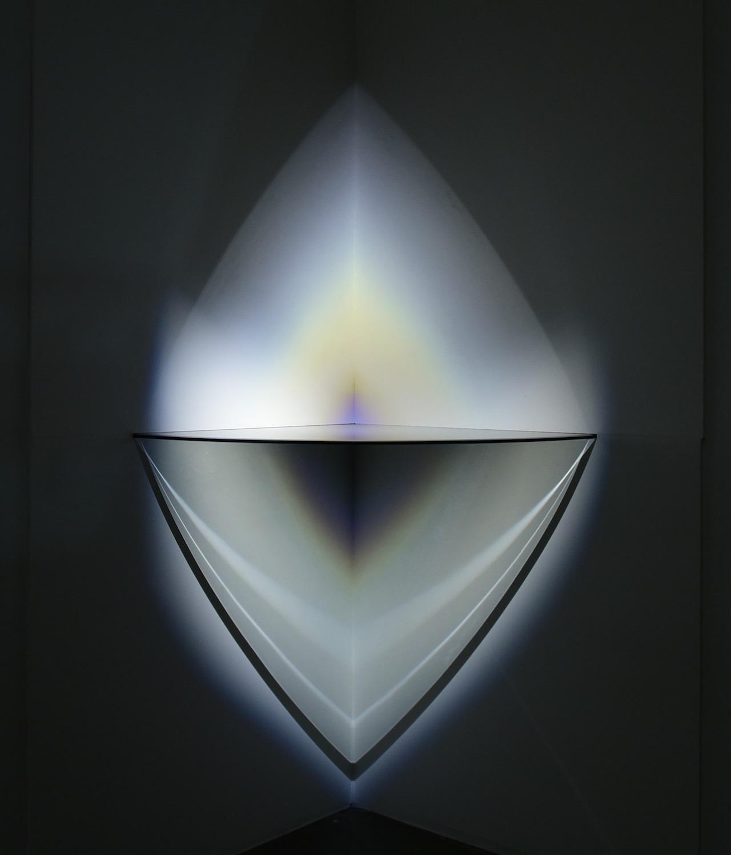 "Larry Bell, ""DB5 1981 Corner Lamp"" (1981) in 'Made in California' at Mana Wynwood"
