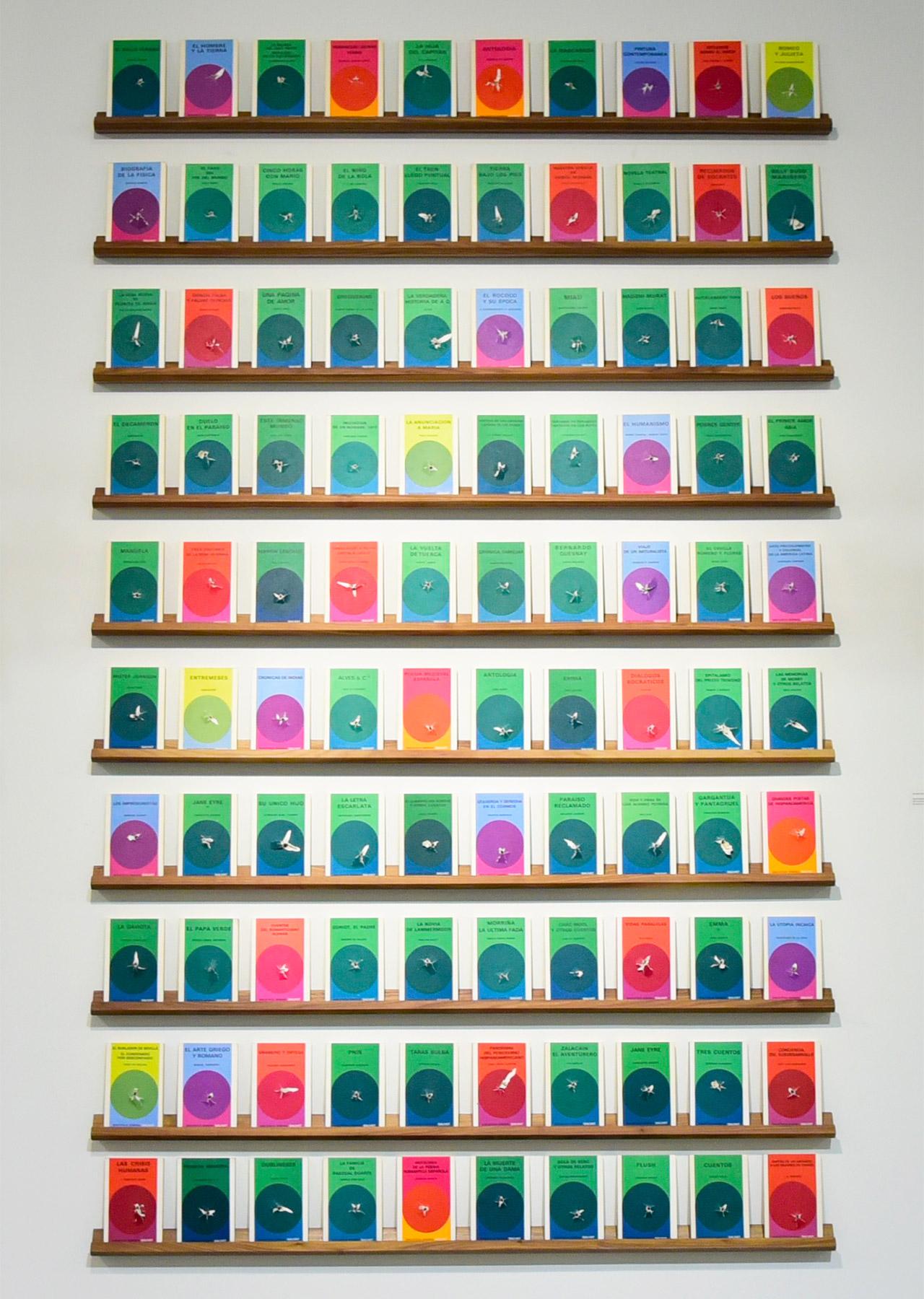 "Gonzalo Lebrija, ""Libros boleados"" (2015) in 'A Sense of Place' at Mana Wynwood"