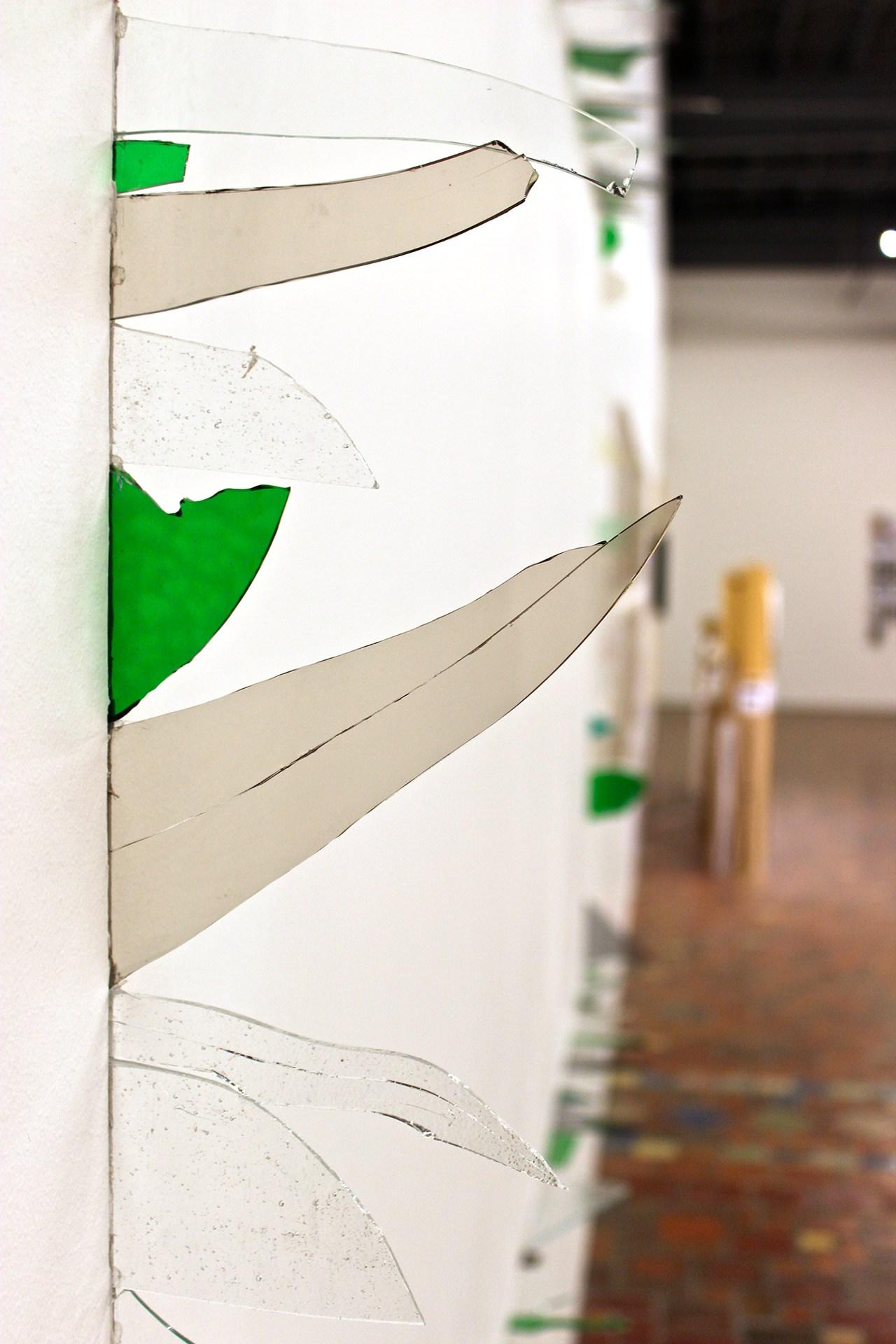 """Marcelo Cidade's glass and plaster installation """"Aidção por Subtração"""" (""""Addition by Subtraction"""")"""