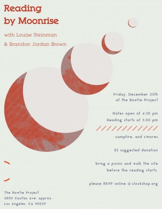 Readings by Moonrise (via clockshop.org)