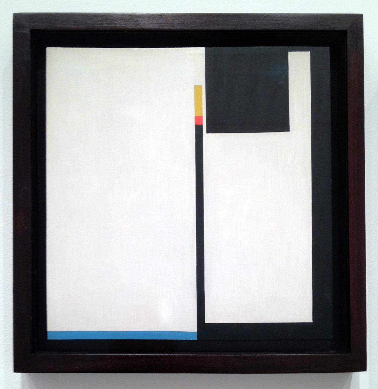 """Bruno Munari, """"Negativo - Positivo (Negative - Positive)"""" (1951), oil on masonite, oil on masonite, 13 x 12.8 inches."""