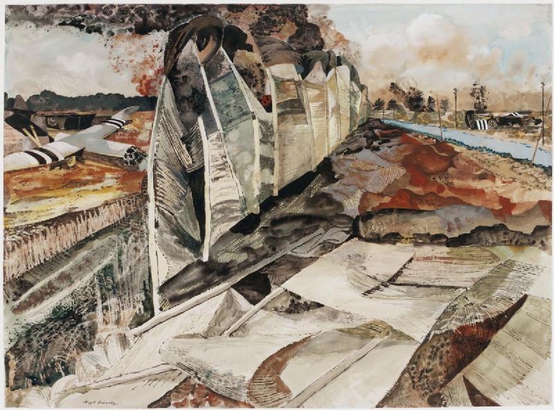 "Albert Richards, ""France - the Beach Head, 1944"" (1944) (via Imperial War Museums)"