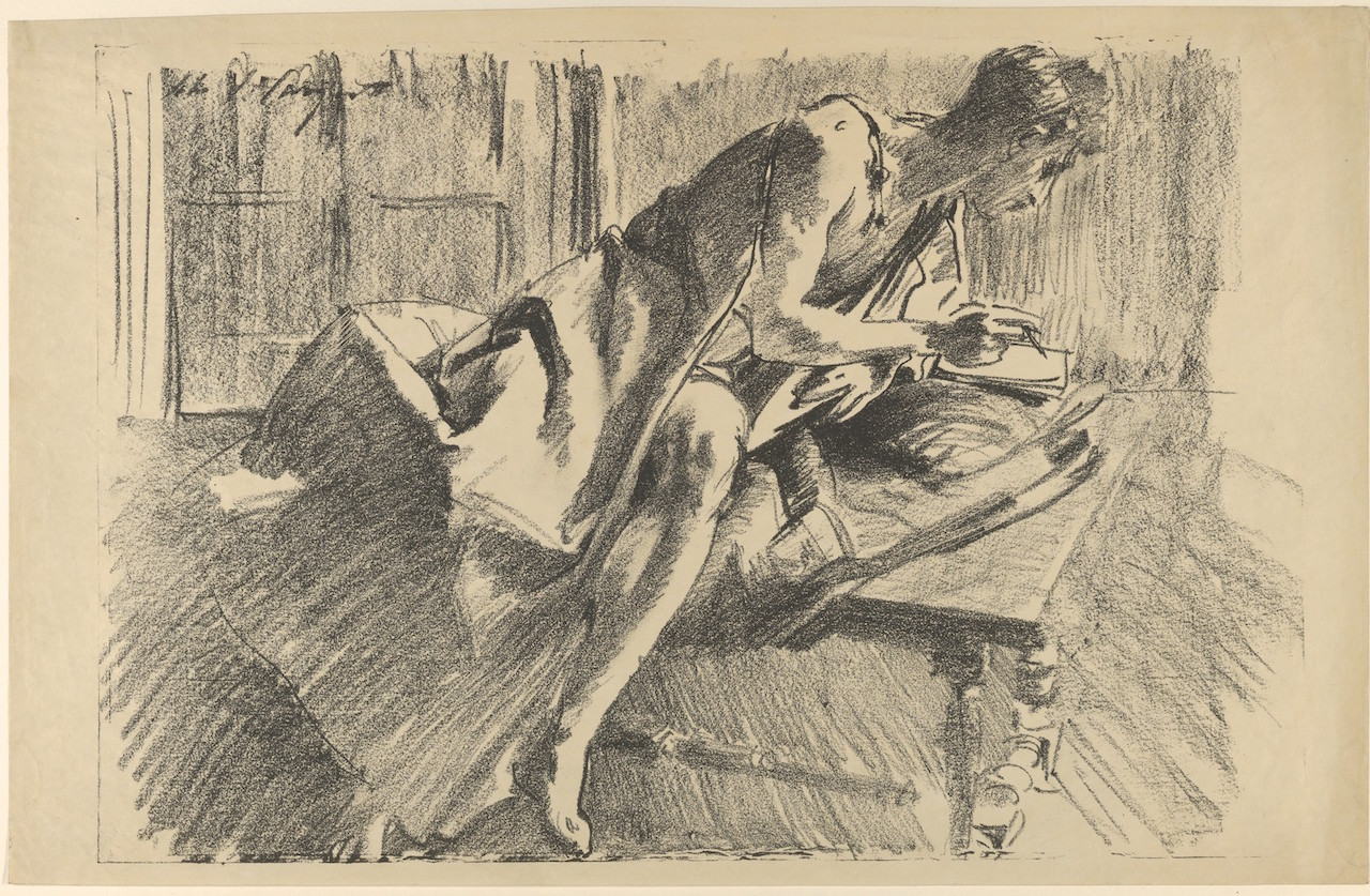 Fig. 6. John Singer Sargent (American, 1856–1925). Study of a Young Man, Drawing, 1895. Transfer lithograph; Sheet: 12 5/8 x 19 5/8 in. (32.1 x 49.9 cm). The Metropolitan Museum of Art, New York, Gift of Mrs. Francis Ormond, 1950 (50.558.8)