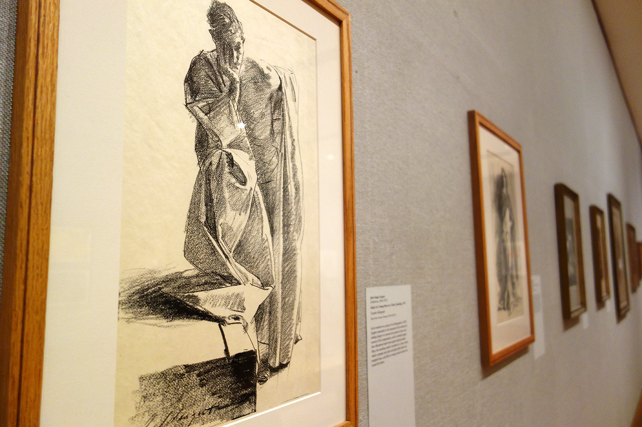 """John Singer Sargent, """"Study of a Young Man in a Cloak, Standing"""" (1895), transfer lithograph"""