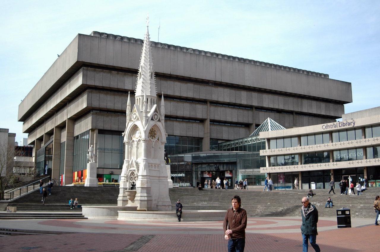 Birmingham Central Library.jpg John Madin: Birmingham Central Library, Birmingham, Großbritannien, 1969–1973 Foto: Erebus555 2007 (CC BY-SA 3.0)