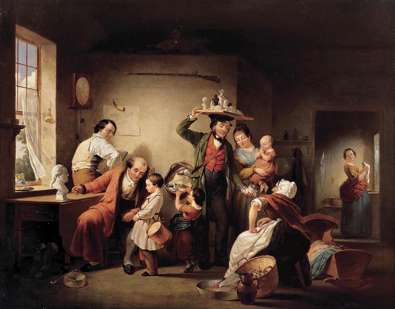 "Francis William Edmonds, ""The Image Peddler"" (1844), oil on canvas (New-York Historical Society, via The Athenaeum)"