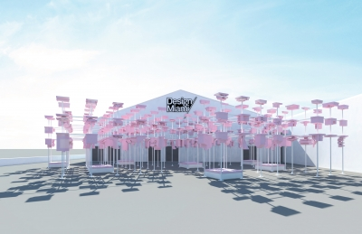 DESIGN MIAMI: Rendering of the new entrance commission, UNBUILT (image courtesy of Harvard GSD, via Design Miami)