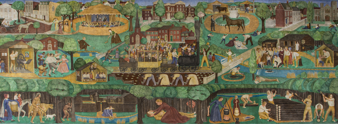 Detail of Ann Rice O'Hanlon's mural in the University of Kentucky's Memorial Hall (photo by Tim Webb, courtesy University of Kentucky)