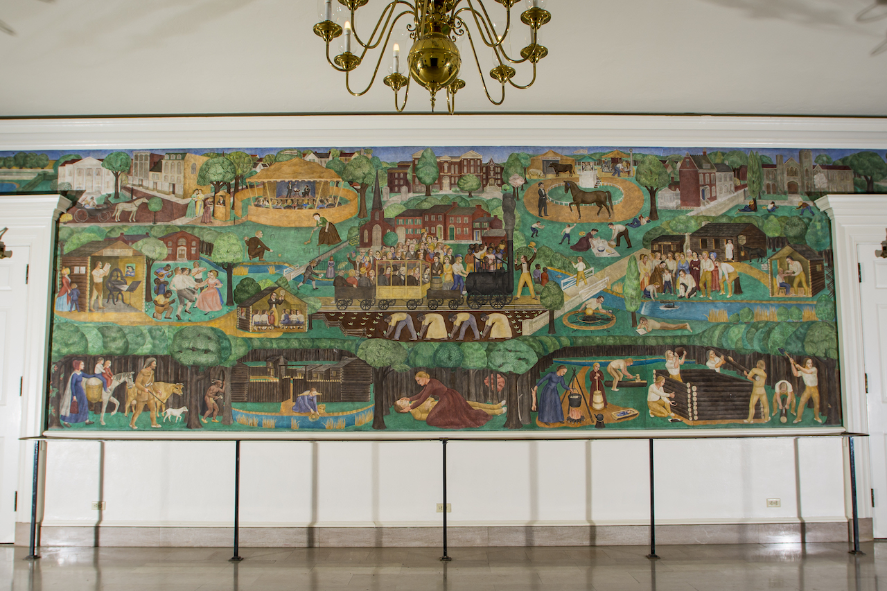 Installation View Of Ann Rice OHanlons Mural In The University Kentuckys Memorial Hall