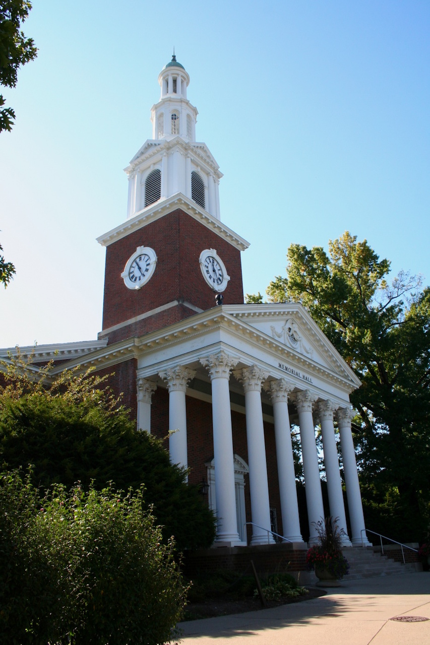 The exterior of the University of Kentucky's Memorial Hall (photo by Triple Tri via Wikimedia)