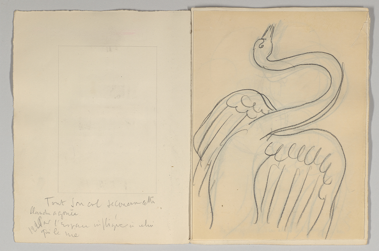Henri Matisse, preliminary designs for Stéphane Mallarmé, 'Poésies' (1932) (Collection of The Pierre and Tana Matisse Foundation © 2015 Succession H. Matisse / Artists Rights Society (ARS), New York, photography by Graham S. Haber, 2015)