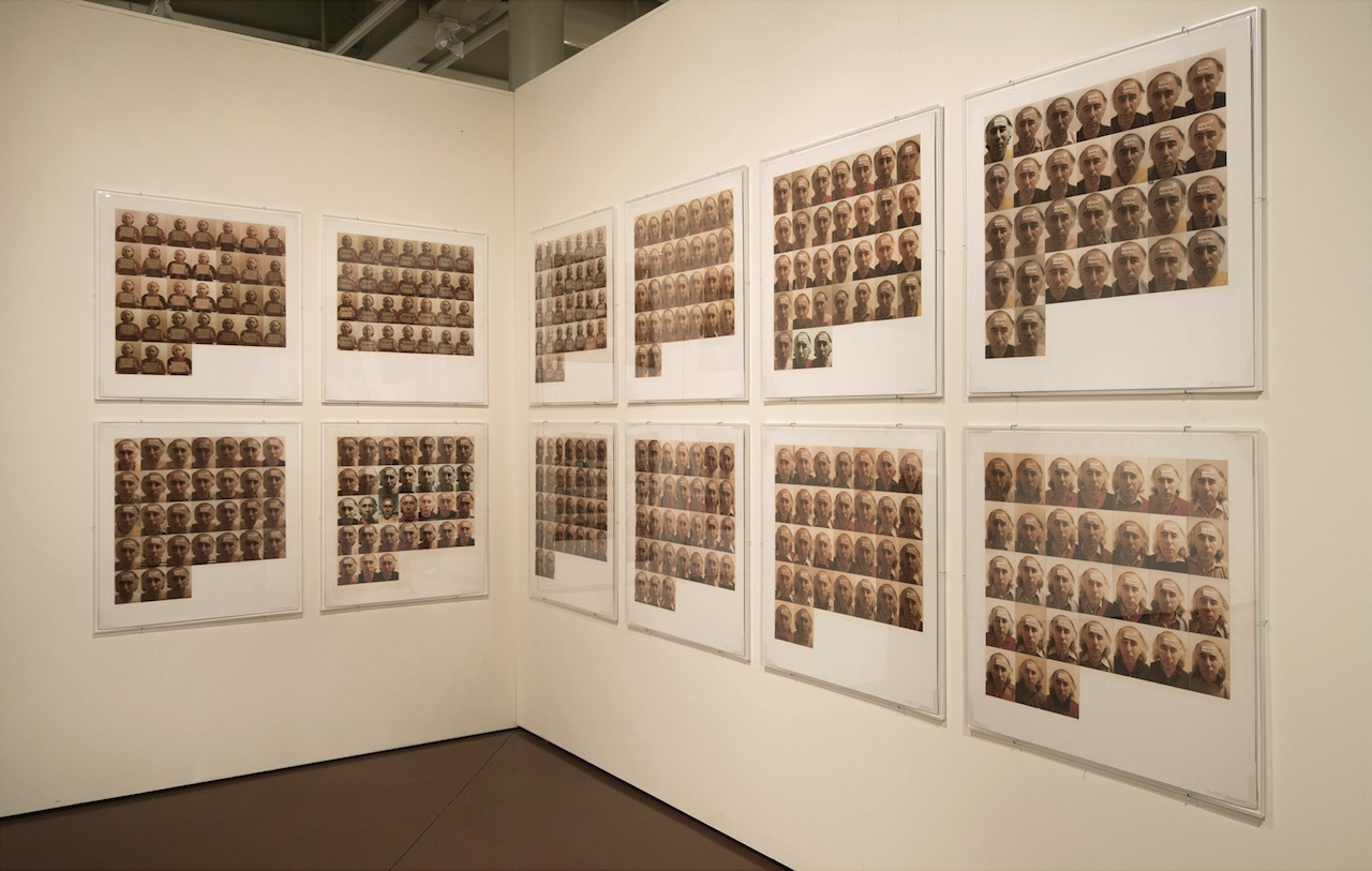 """Vagrich Bakhchanyan, """"Diary 1/1/79–31/12/79"""" (1979), installation view, 365 color photographs mounted on 12 cardboard panels 76 x 73 cm ea (photo courtesy of Irene Bakhchanyan)"""