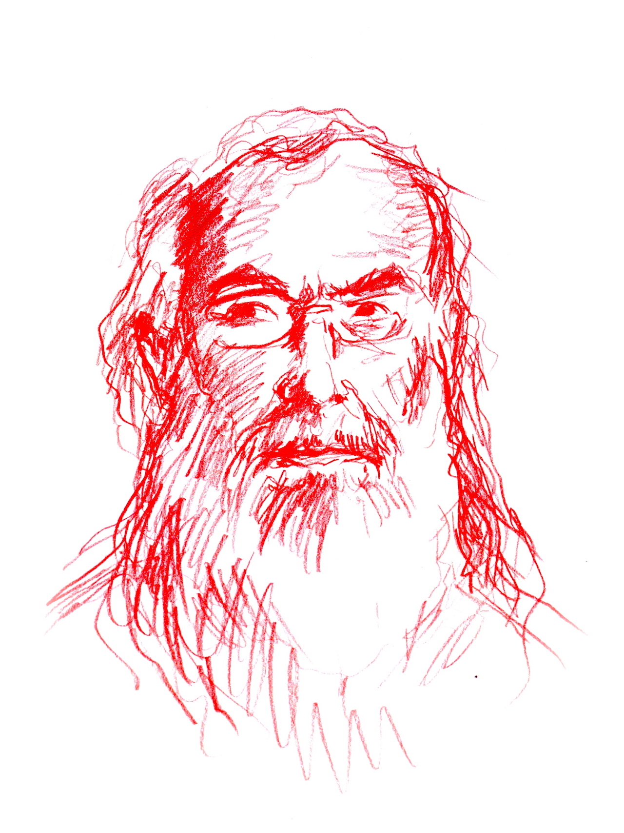 """""""David Brooks, the Tolstoyan Mystic"""" (all images by the author for Hyperallergic)"""