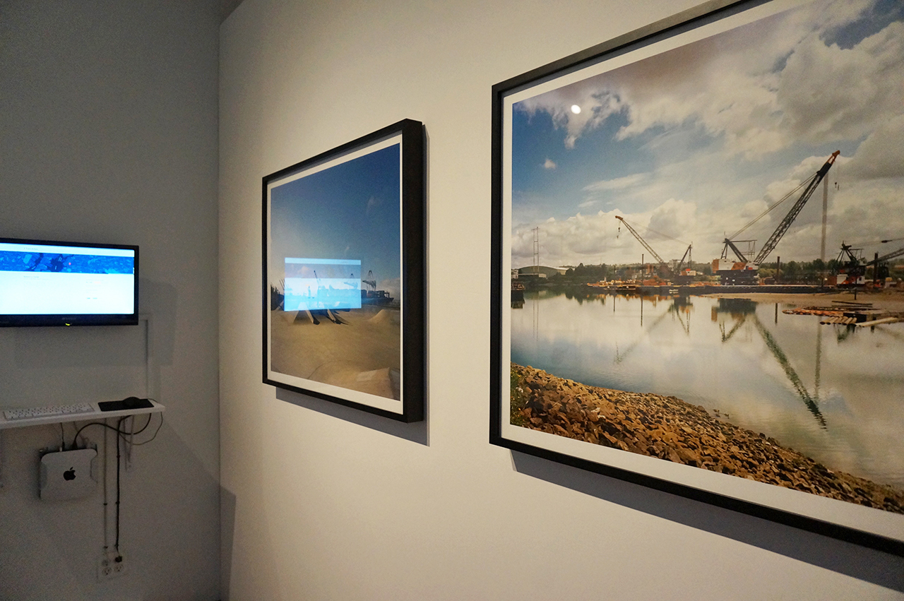 Installation view of Brooke Singer's work in 'Aqueous Earth' at ISCP (click to enlarge)