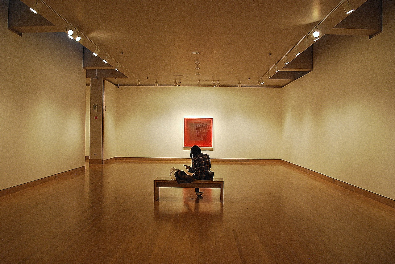 A visitor at the Frye Museum, Seattle WA. Photo by Joe Wolf/Flickr