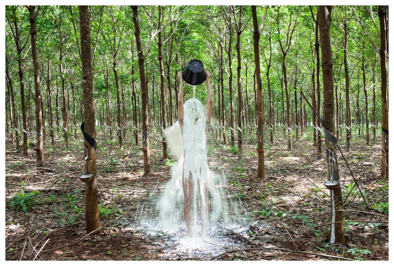 "Khvay Samnang, ""Rubber Man"" (2014), Digital C-Print, 80 x 120 cm"