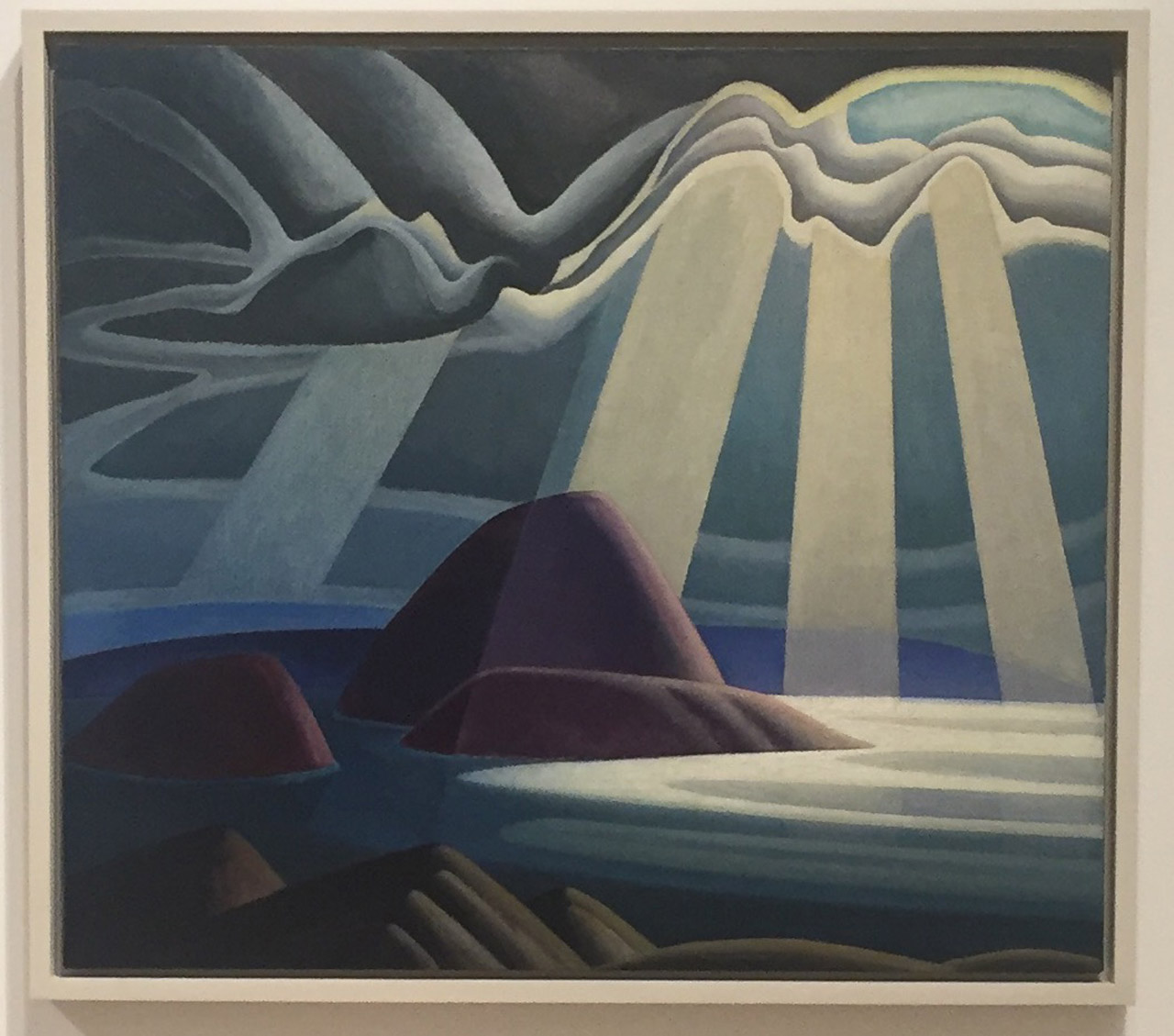 """Lawren Harris, """"Lake Superior"""" (c. 1923), oil on canvas, 44 × 49 1⁄2 in (111.8 × 126.9 cm), The Thompson Collection at Art Gallery of Ontario"""