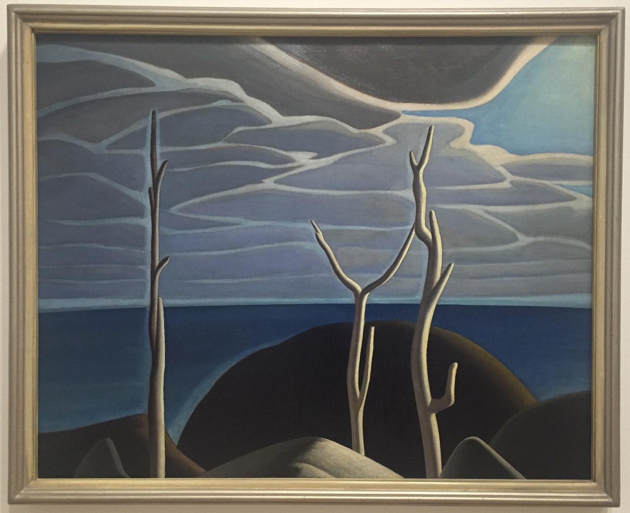 "Lawren Harris, ""Lake Superior"" (c. 1924), oil on canvas. 40 1/16 x 50 1/8 in (101.7 x 127.3 cm), Art Gallery of Ontario"