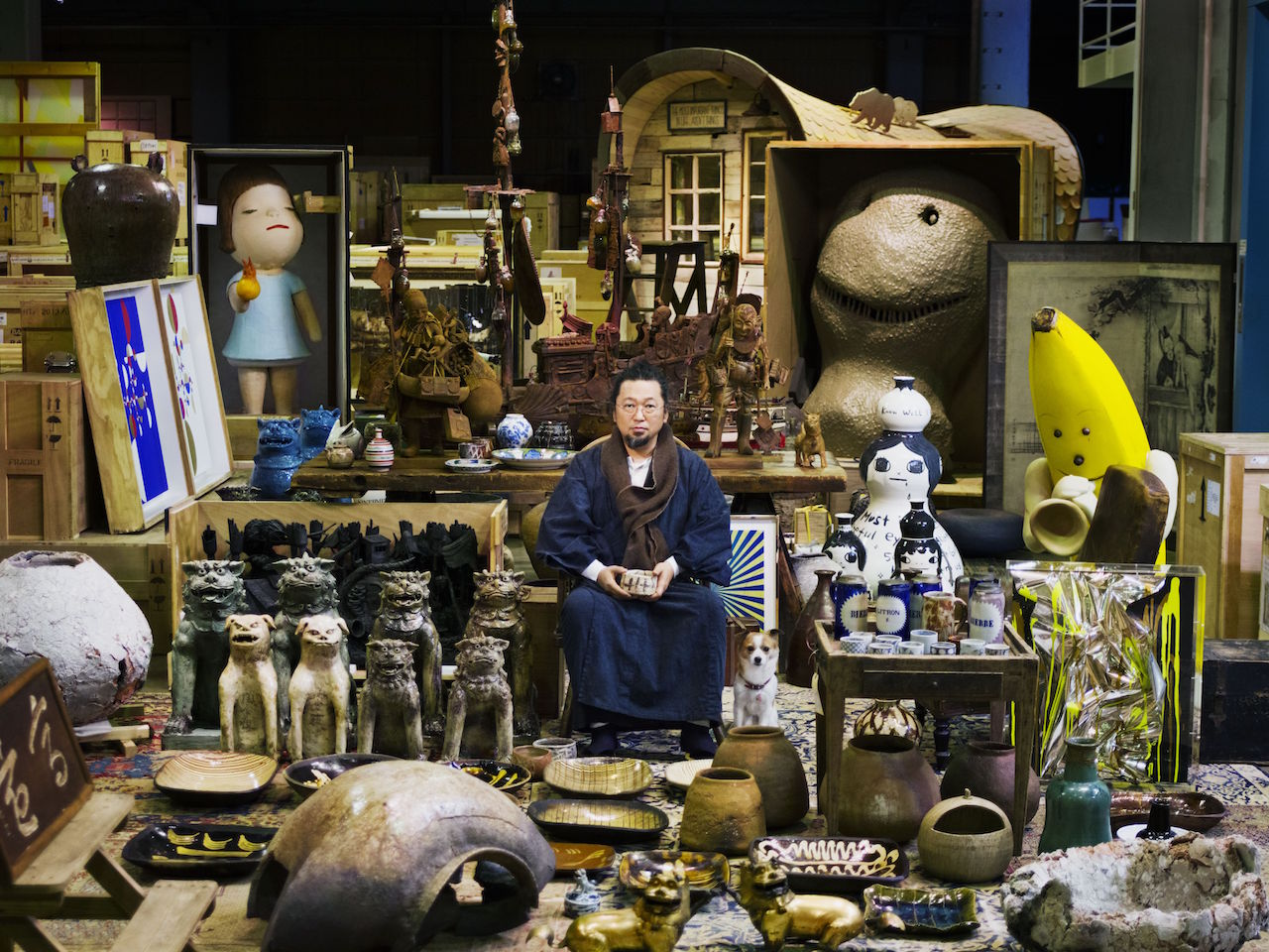 Takashi Murakami and his Superflat Collection (photo by Kentaro Hirao, all images courtesy Yokohama Museum of Art)