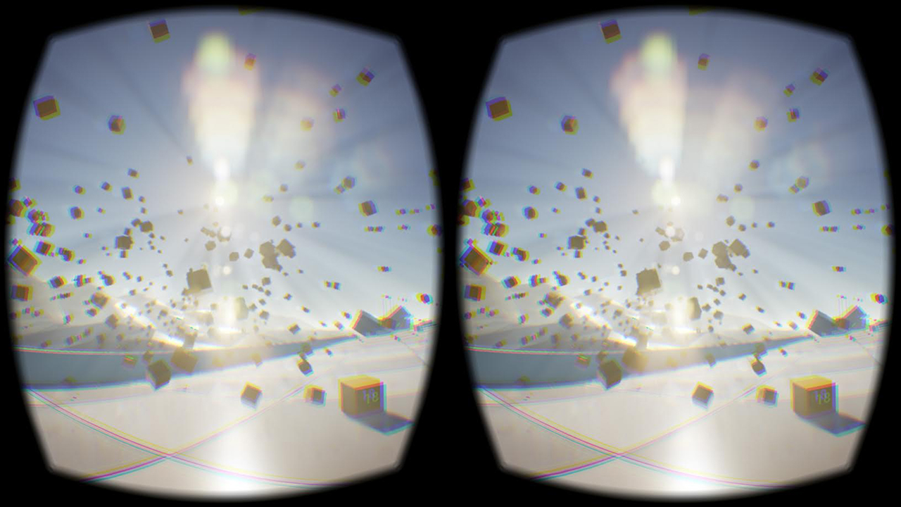 Sample screen of stereoscopic image on Oculus Rift (image via Wikipedia)