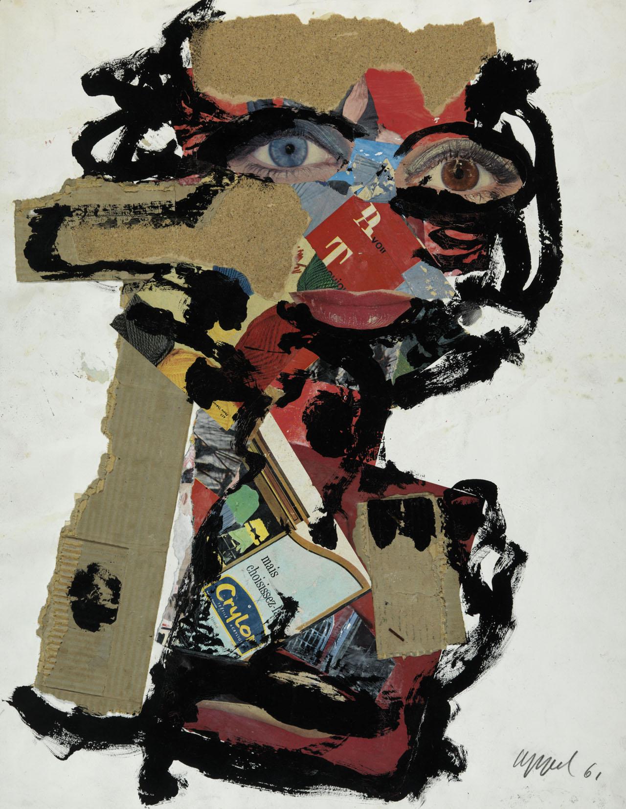 """Karel Appel, """"Visage de femme"""" (1961)"""