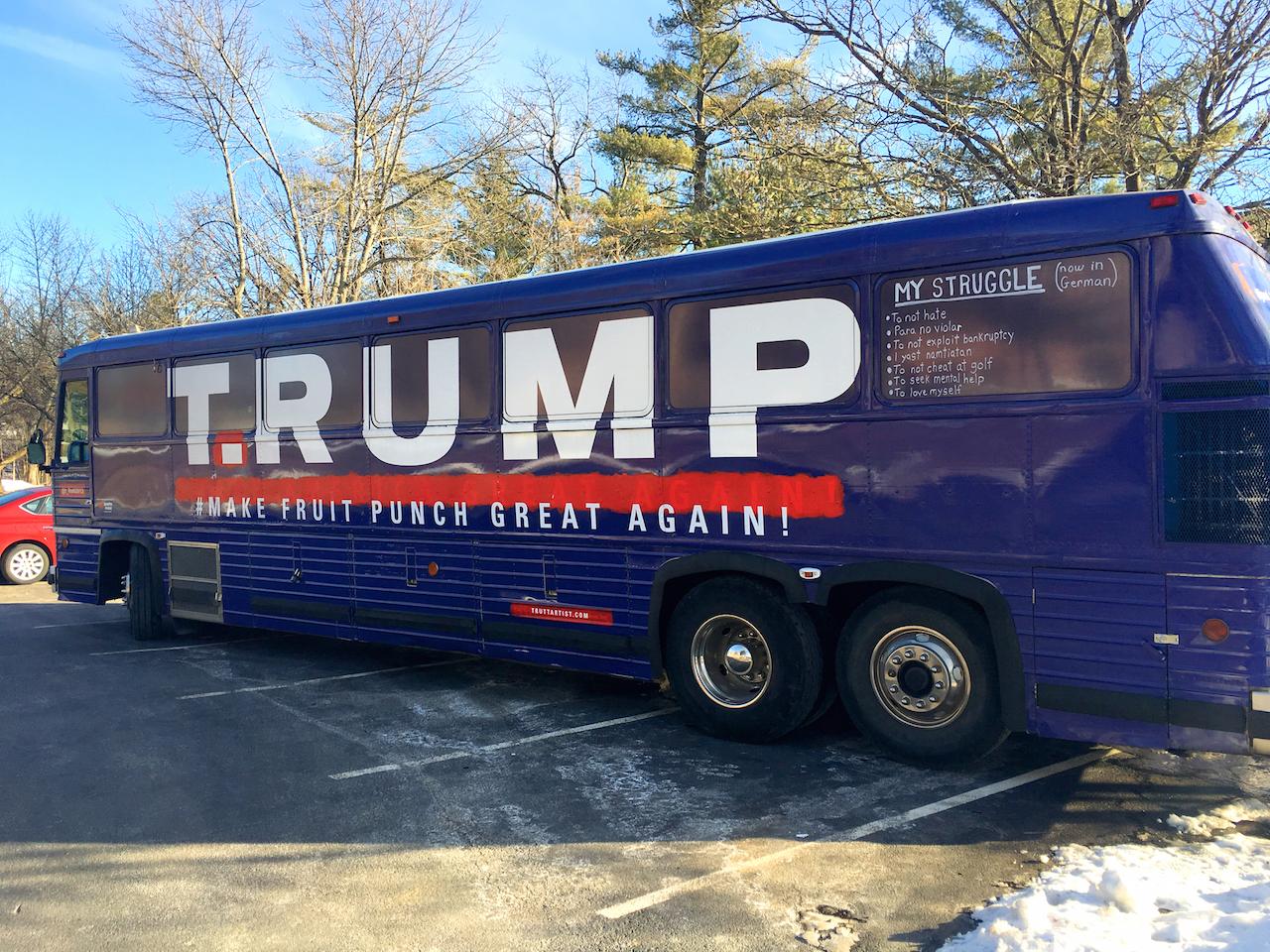 Artists Buy Trump Campaign Bus on Craigslist, Turn It Into ...