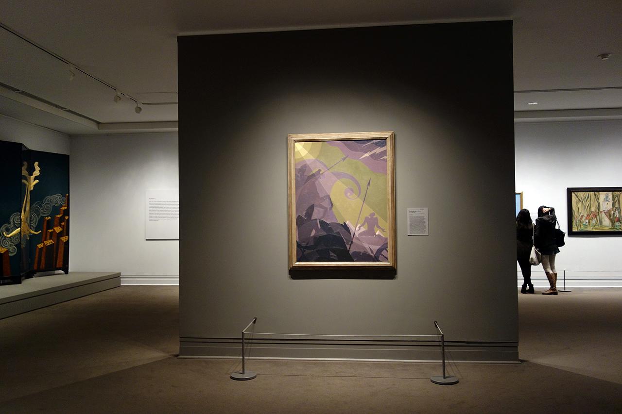 "Aaron Douglas, ""Let My People Go"" (1935-39), oil on masonite, at the Metropolitan Museum of Art"