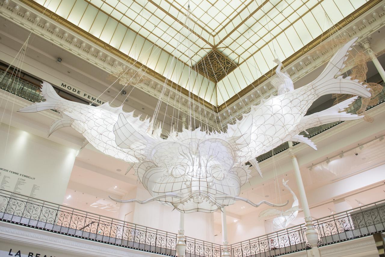 Installation view of Ai Weiwei's 'Er Xi, Air de jeux' at Le Bon Marché Rive Gauche (photo © Gabriel de la Chapelle, courtesy Le Bon Marché)
