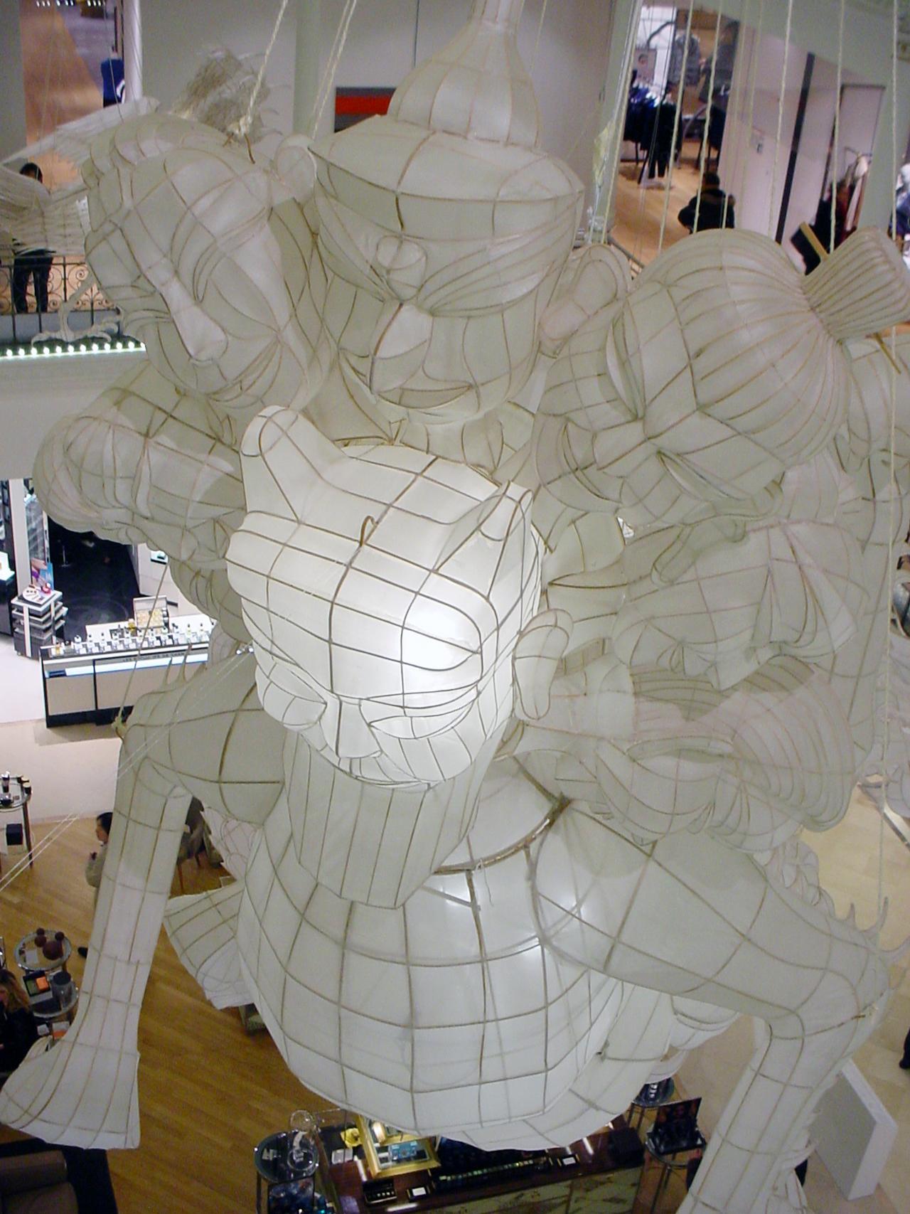 Installation view of Ai Weiwei's 'Er Xi, Air de jeux' at Le Bon Marché Rive Gauche