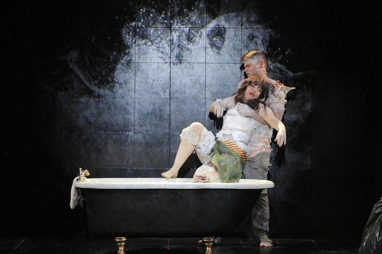 Kyle Bielfield and Jennifer Charles in 'Angel's Bone'