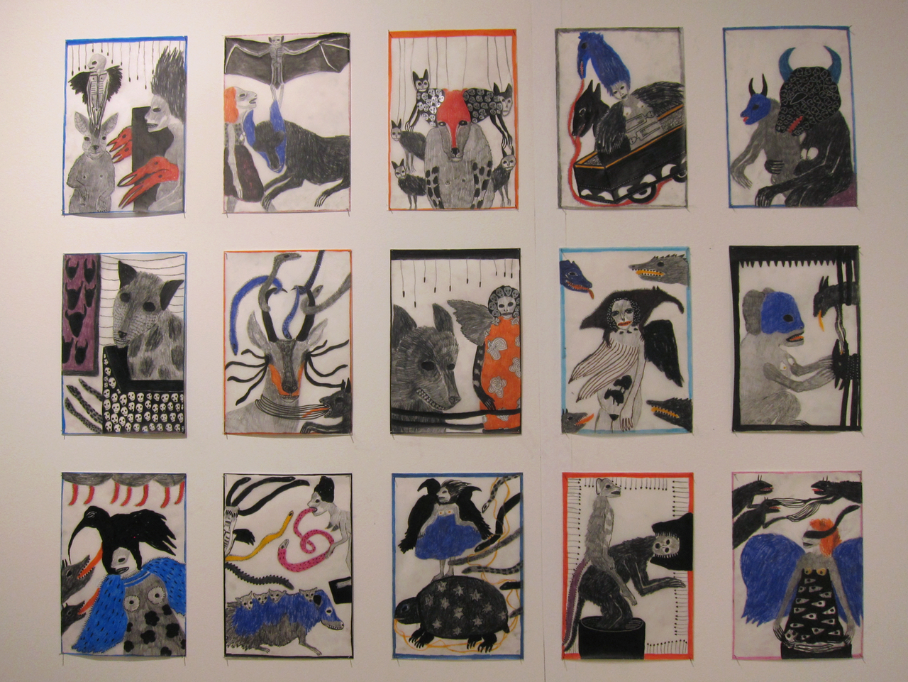 Drawings by Annette Barcelo at Galerie Anne de Villepoix