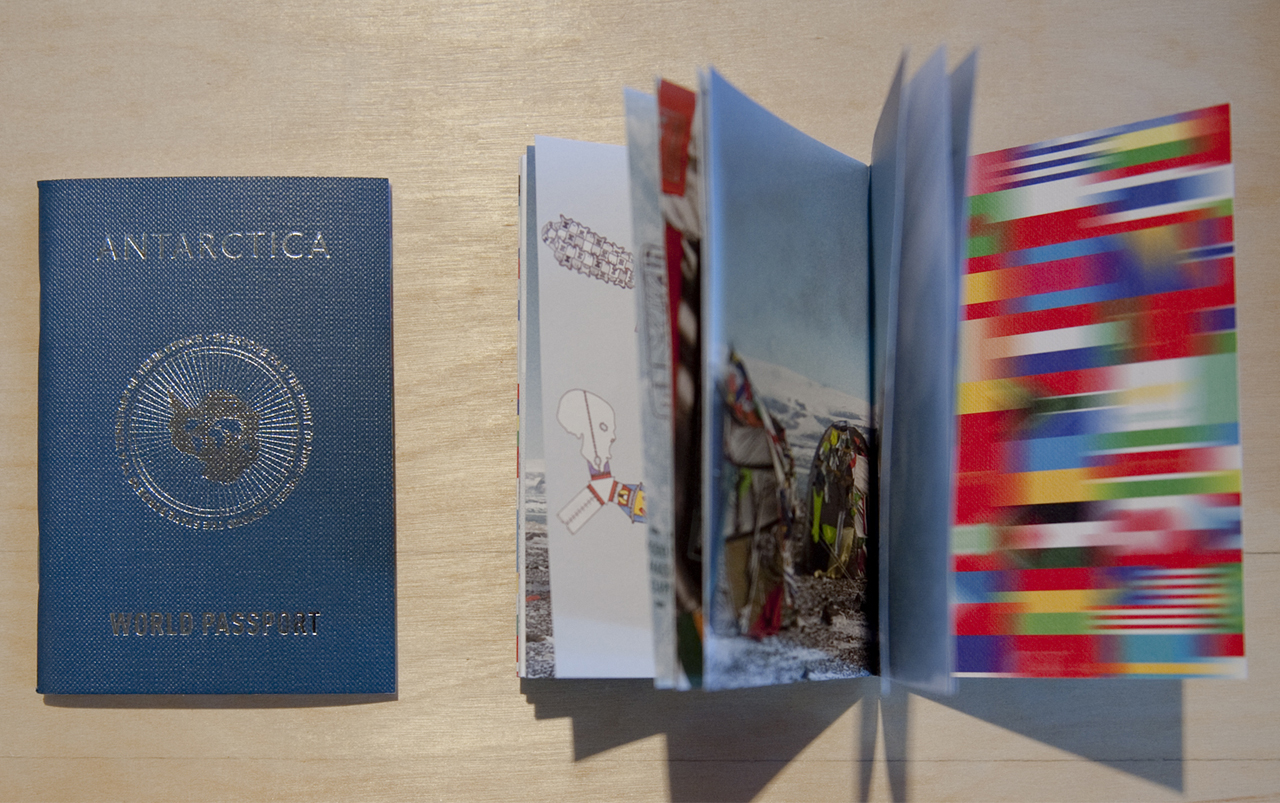 Antarctica World Passport (courtesy the artists and Jane Lombard Gallery)