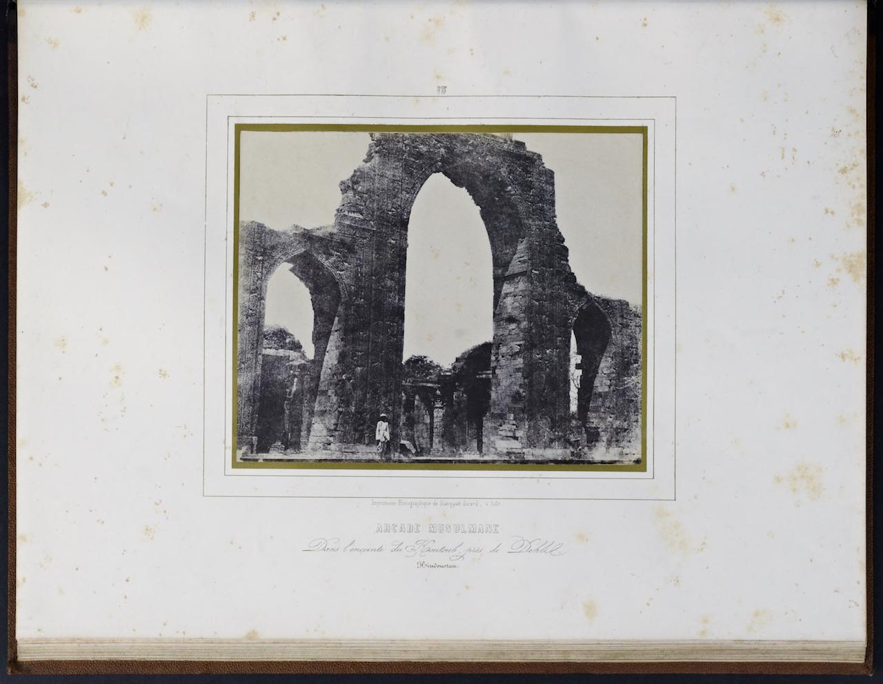 """Louis Désiré Blanquart-Evrard, """"Arcade Musulmane"""" from """"Album photographique de l'artiste et de l'amateur"""" (1851)"""