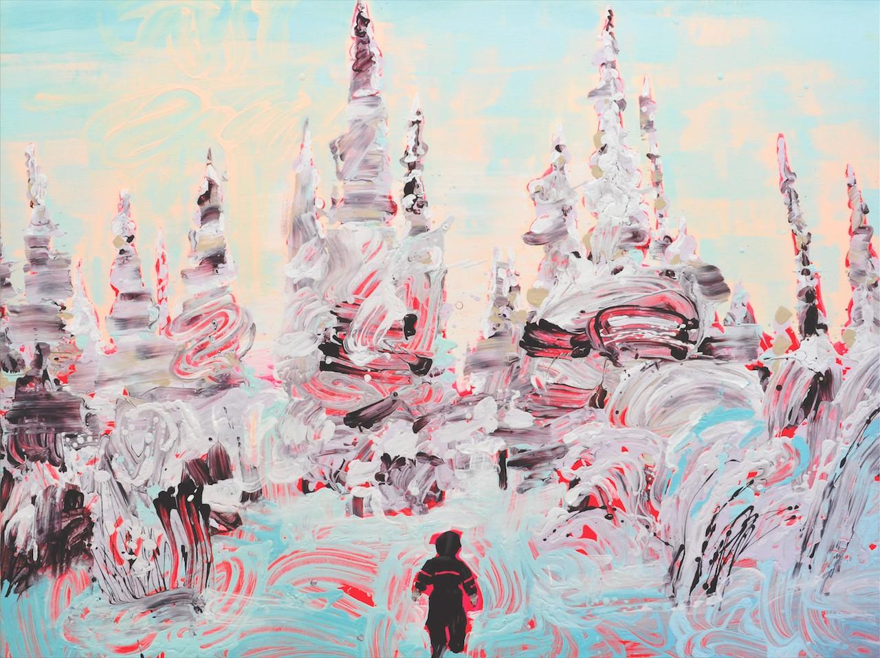 """Sirpa Särkijärvi, """"Viides sukupolvi"""" (""""Fifth Generation"""") (2011), acrylic on canvas, 41 3/8 x 55 1/8 in. (courtesy of the artist and Gallery AMA, Helsinki © Sirpa Särkijärvi)"""