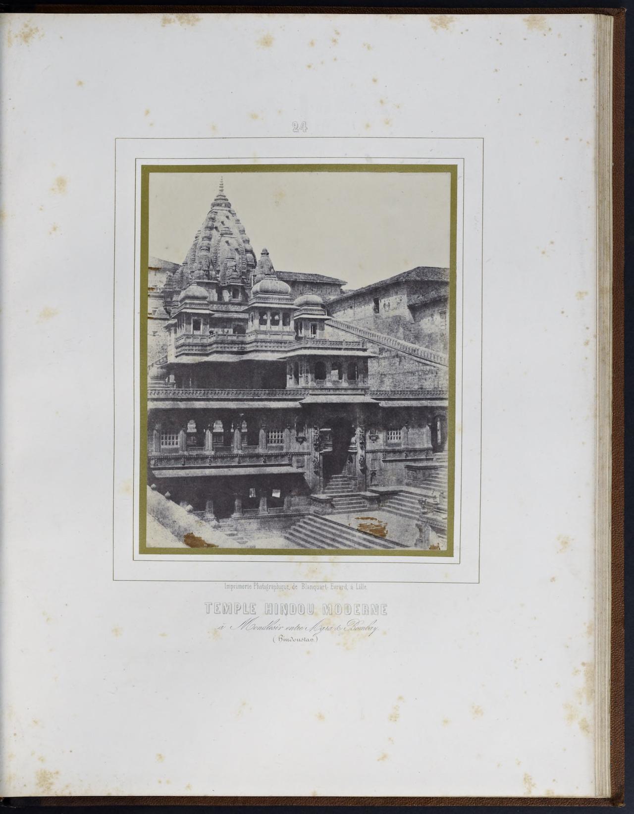 """Louis Désiré Blanquart-Evrard, """"Temple Hindou Moderne"""" from """"Album photographique de l'artiste et de l'amateur"""" (1851)"""
