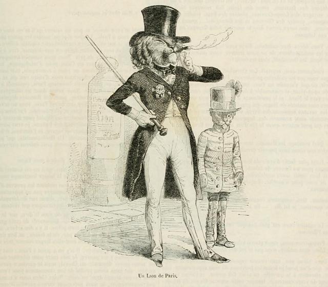 Illustration by J.J. Grandville in 'Scènes de la vie privée et publique des animaux' (originally published in 1842) (via University of Ottawa/Internet Archive)